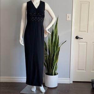 Pierre Laurent Long Formal Beaded Black Dress